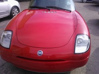 Fiat Barchetta front view with complete respray in red